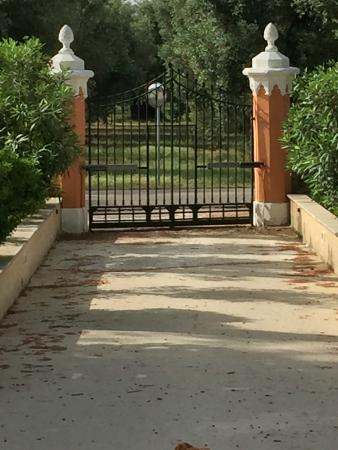 Villa Ottilia: Secure entry gate