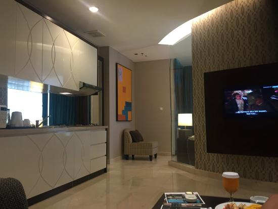 Living Room with Pantry - Picture of The Grove Suites, Jakarta ...