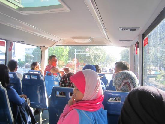 Jakarta City Tour Bus Interior Bis