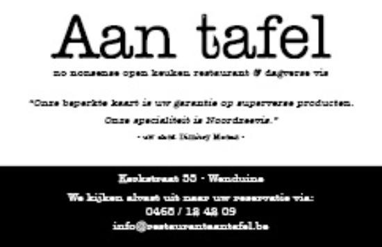 Wenduine, Bélgica: Aan tafel restaurant