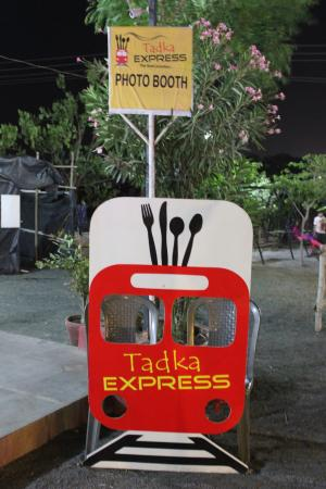 tadka express the food junction photo booth be clicked be remembered