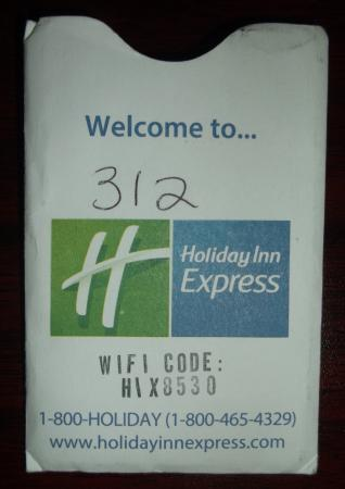 Florida City, Floride : Room 312 & wifi password