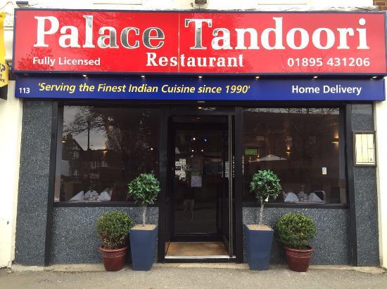 Palace Tandoori west drayton middlesex: New sign at The palace Tandoori
