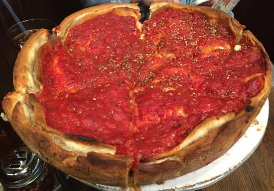 """Patxi's Chicago Pizza : The """"Matt Cain"""" -- deep dish with great tasting sausage!"""