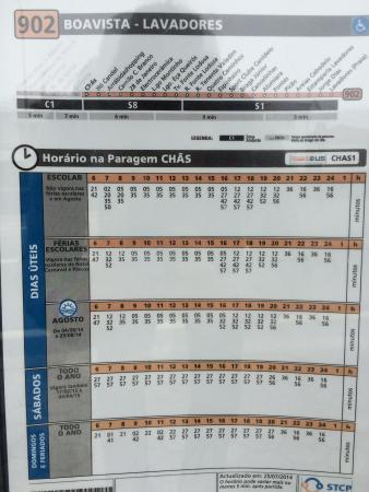 Hotel Ibis Budget Vila Nova De Gaia: bus plan of line 902 at CHÃS