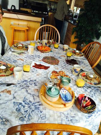 Paula's Place B&B: Fabulous breakfast