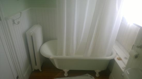 Union Street Guest House : The claw tub shower.