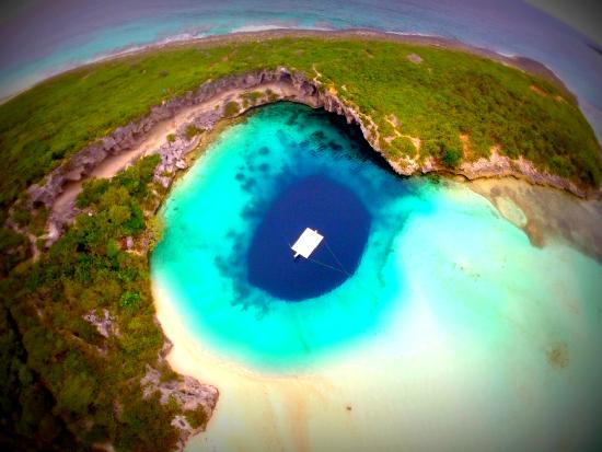 Dean's Blue Hole : view from my drone