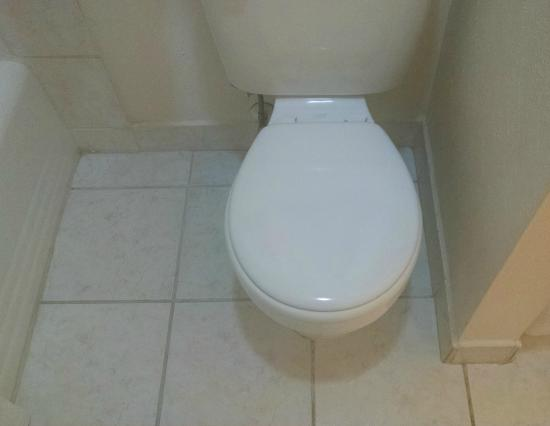 Econo Lodge Inn & Suites: toilet against the wall