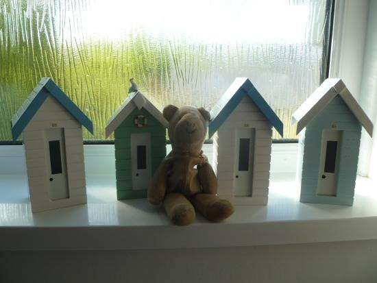 The Clock House: Teddy and the beach huts