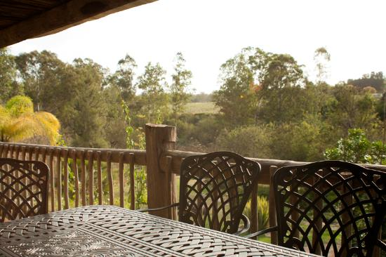 Avoca River Cabins : View from the deck.