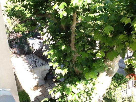 Le Castelet des Alpilles: Outdoor terrace view