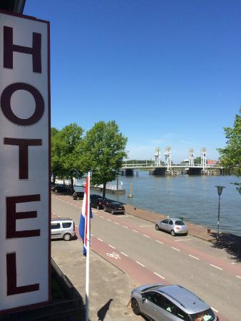 Hotel van Dijk: View of river and bridge