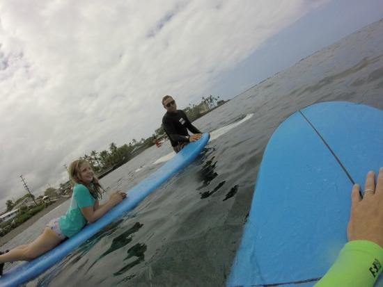 Kona Surf Company: He would help my daughter understand the best wave and then push her into the best position