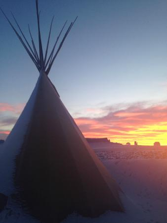Teepee sunrise