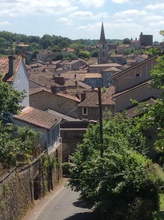 Le Lindois, France: View from the velo-rail.
