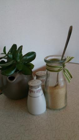 Sweet Envy : Condiments on table