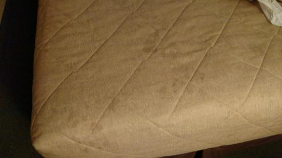 Ramada Rapid City: Stained Bed cover