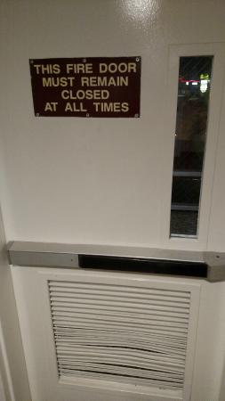Ramada Rapid City: Fire doors are obsolete if vented.