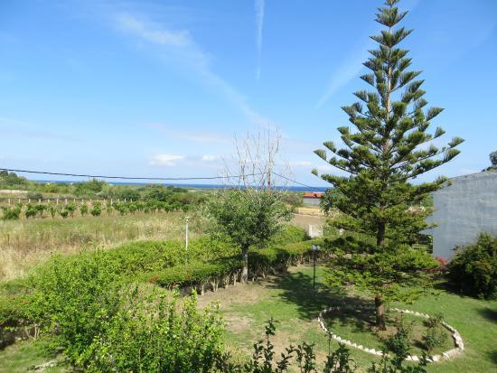 Vallian Village Hotel: Vue sur la Mer Égée de notre chambre
