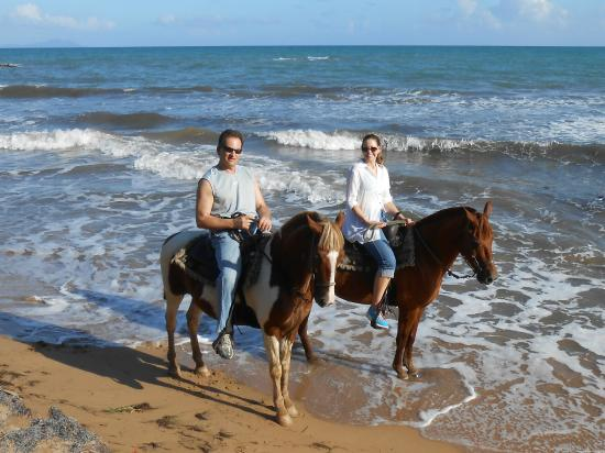 Rancho Buena Vista: dipping hooves in the sea