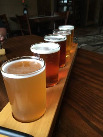 Blowing Rock Ale House & Inn: I chose 5 samples to determine my favorite.