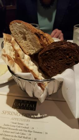 The Capital Grille: Bread basket