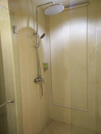 Golden Roof Hotel: equipped with rain shower and hot water! yay!