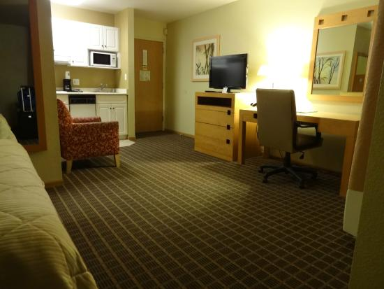Quality Inn & Suites at Metro Center: Big room with kitchen and seating area