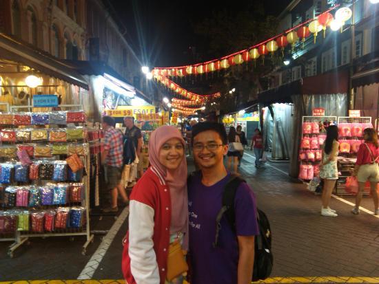 Suasana Chinatown Street Market Di Malam Hari