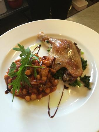 The White House Hotel: Roast Confit of Duck Leg .chick pea cassoulet