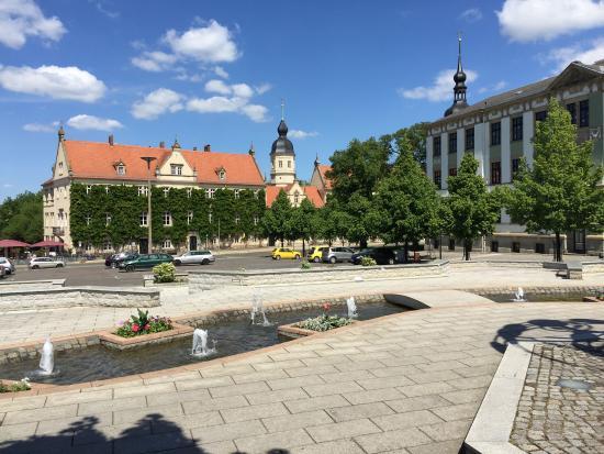 Riesa, Alemania: Ратуша. Выглядит также как и 25 лет назад, когда здесь еще была другая страна.