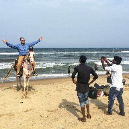FabHotel Prime Santhome Inn: Gandhi beach, right by hotel--I rode that horse!