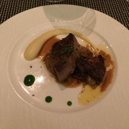Azure Restaurant: Beef fillet and foie gras