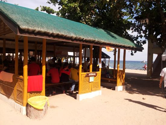 Area for daytrippers or functions Picture of Kabayan Beach