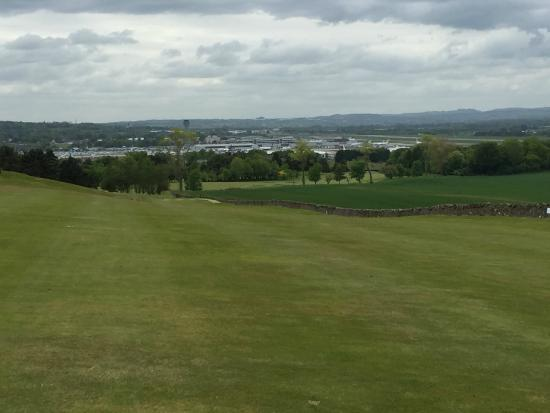 Turnhouse Golf Club: View of EDI Airport from course