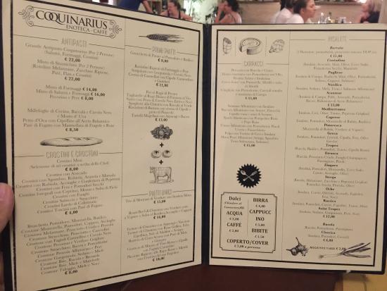 Coquinarius: menu