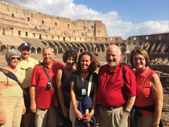 About Rome - Best Walking Tours with Micaela: Happy group at the Colosseum.