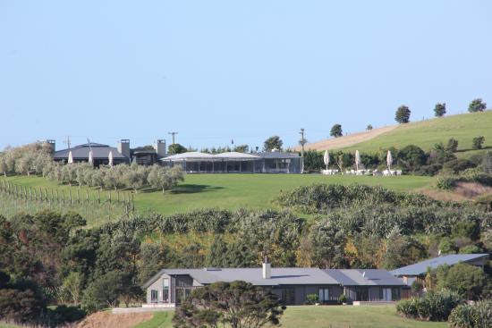Kowhai Close : Views from boundary looking back to Cable Bay winery