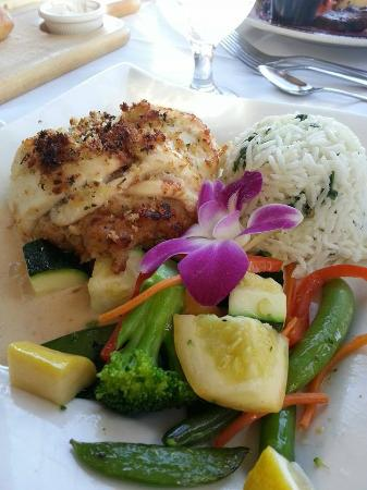 Ron's Landing At Rocky Bend: BAKED STUFFED HADDOCK Fresh haddock stuffed with a shrimp, scallop and lobster stuffing, topped