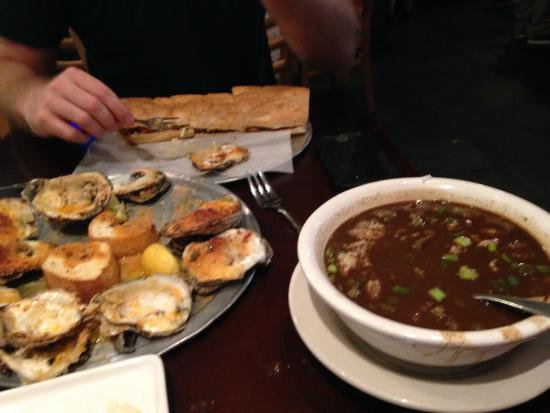 Little Daddy's Gumbo Bar : Charbroiled oysters, seafood gumbo and oyster poboy