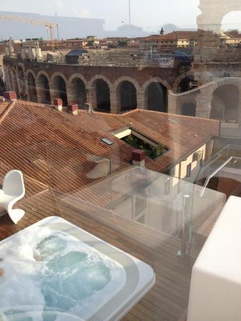 Terrazzo sul tetto - Foto di Hotel Milano & Spa, Verona - TripAdvisor