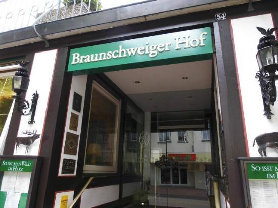 Romantikhotel Braunschweiger Hof: Eingang zum Restaurant