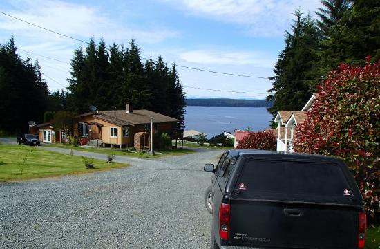 Alert Bay Cabins : View from road