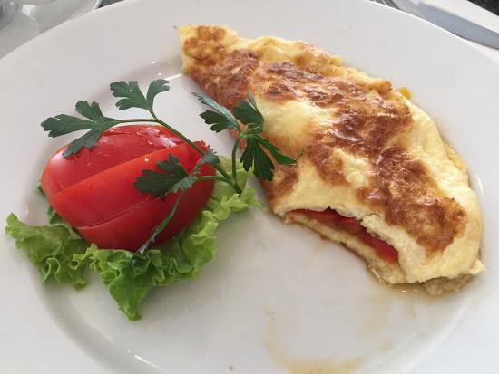The excellent half portion of Osiriss omlette