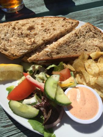 The Badger Inn: Crab meat sandwich ~ absolutely lovely