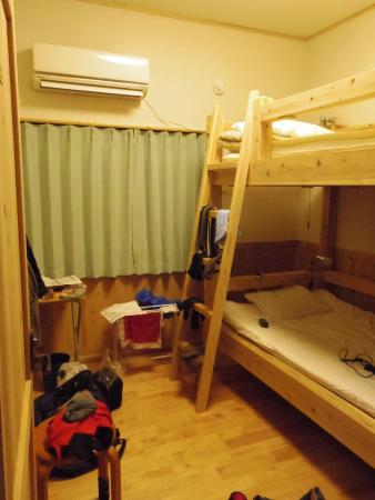 Guesthouse Yakushima : 今回は個室を利用。使い勝手のよい二段ベットでした。