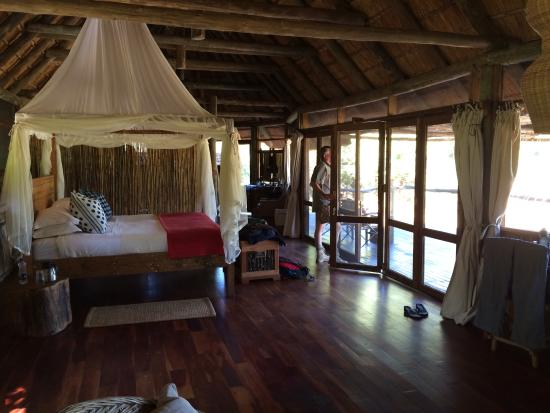 Bilimungwe Bushcamp - The Bushcamp Company: Room 1 with view on it's own private waterhole