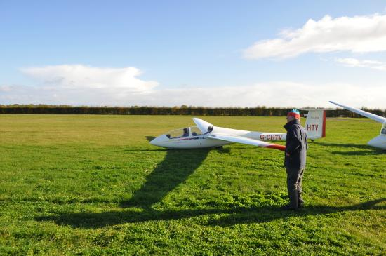 Cambridge Gliding Centre One Of Our Two Seat Training Gliders Ready To Take Off