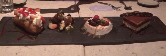 The sharing dessert platter